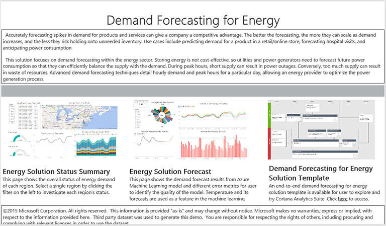 demand forecast model
