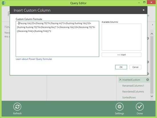 Insert Custom Column