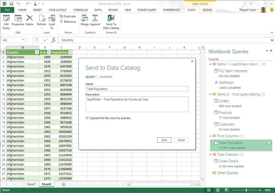 microsoft power query