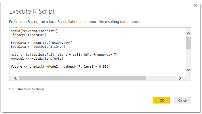 Visualizing and operationalizing R data in Power BI | Blog Microsoft ...