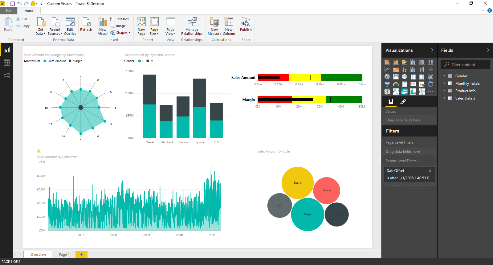 Custom visualizations support and 22 other features in the