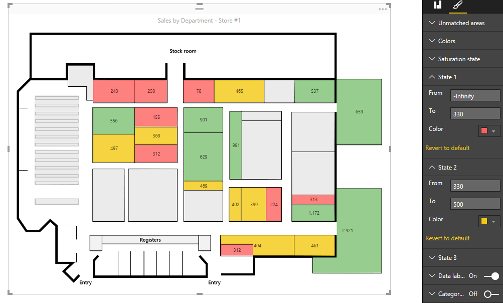 Visual awesomeness unlocked using the synoptic panel microsoft the synoptic panel responds to data selection like any other power bi component you can drag a slicer on the main canvas and start to see how your ccuart Choice Image