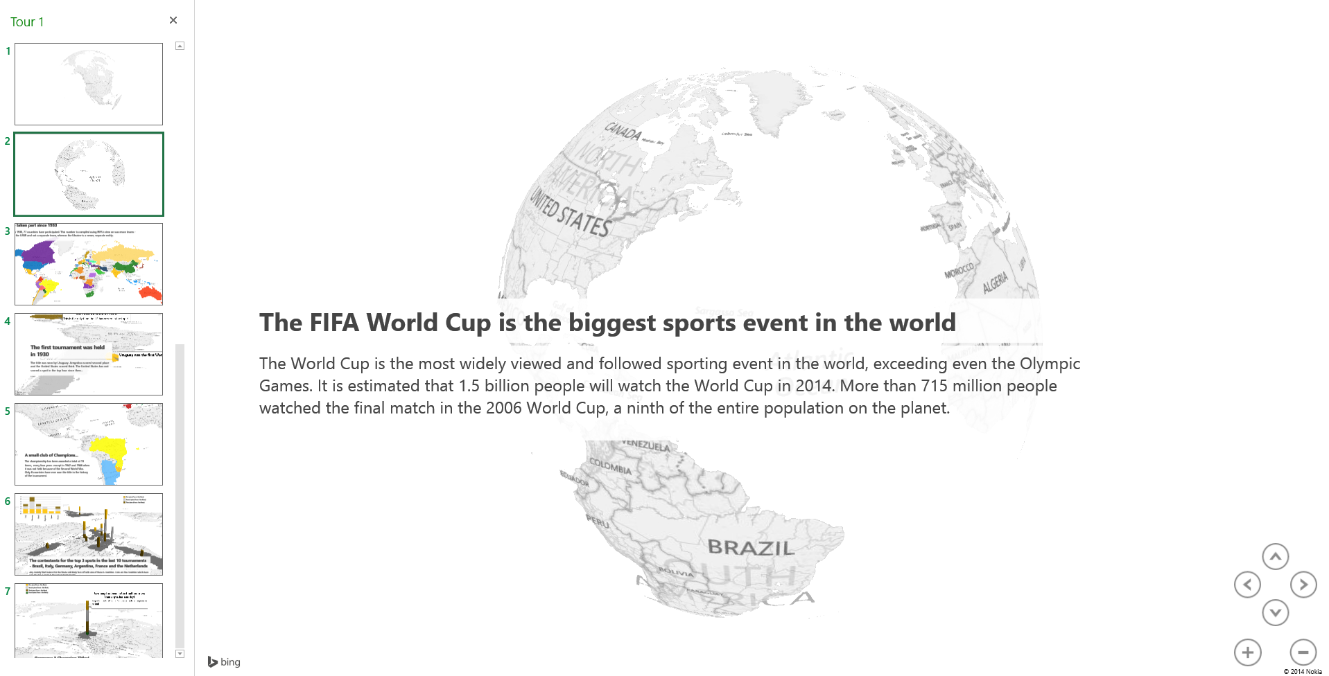 15 World Cup history facts with Power Map | Microsoft Power BI ...