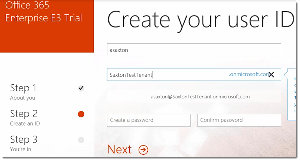 free trial with office 365 enterprise e3