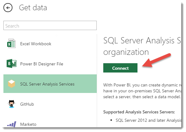 A look at the Analysis Services Connector | Microsoft Power
