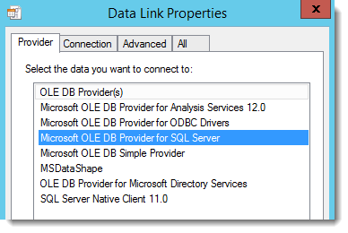 Ibm configuring an ole db provider on an sql server united states.