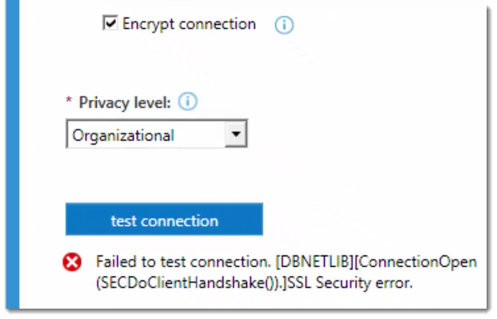 SSL Security Error with Data Source | Microsoft Power BI Blog