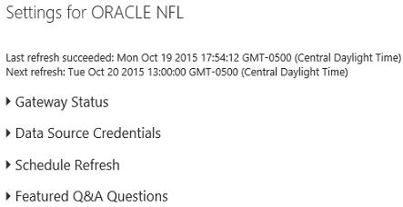 Publishing Oracle data to Power BI with Data Refresh | Microsoft