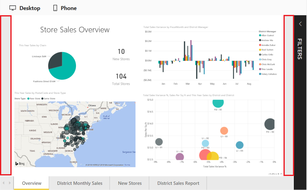 set the background color of a power bi embedded iframe azure
