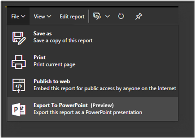 0448b177 d3b0 44ae b957 1cb3c3a34e40 Export Power BI report to PowerPoint (Preview)