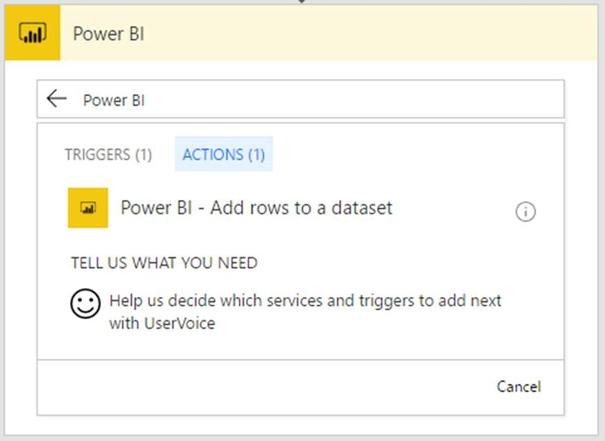 Push data to Power BI streaming datasets without writing any