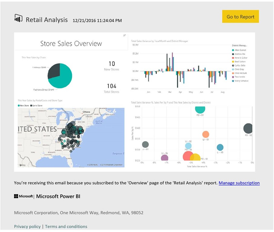 Introducing email subscriptions in Power BI: stay informed