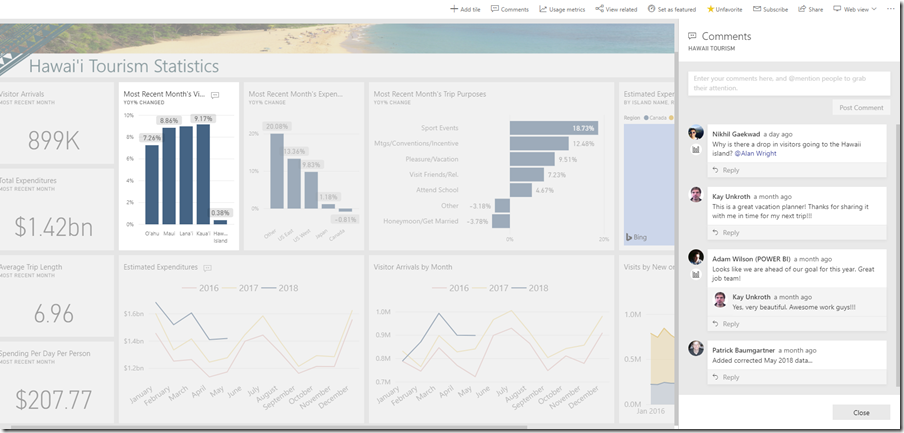 428b38a2 b7b7 4c0b 8c21 e9a9222539e6 Announcing Dashboard Comments in Power BI: Your new hub to discuss data and collaborate with others