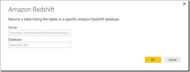 Building Power BI Reports on top of Amazon Redshift data