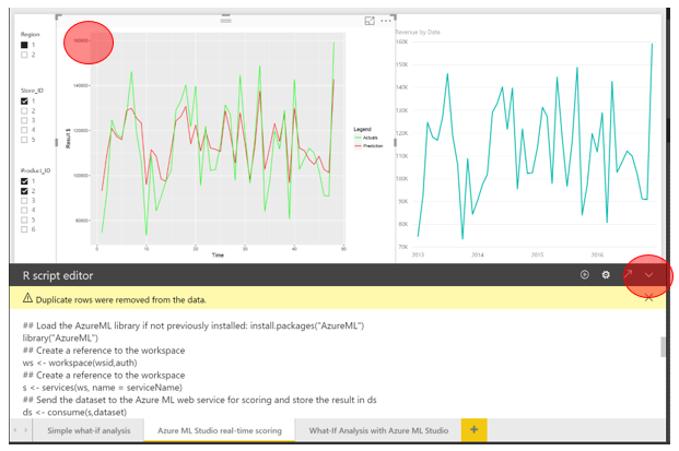 Visualizing and interacting with your Azure Machine Learning