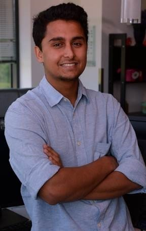 Photo of our intern, Kishor Subedi, who worked on smart alignment