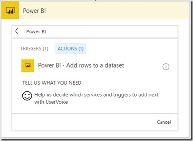 621e36f3 596a 48f9 bf88 2dc36ef90974 Push data to Power BI streaming datasets without writing any code using Microsoft Flow