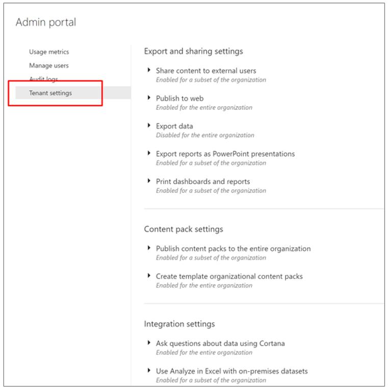 Announcing granular tenant settings in Power BI – Organizational Change Announcement Template