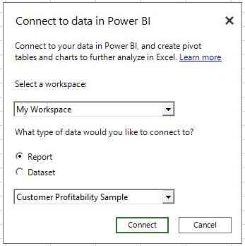 Connect and analyze Power BI data directly from Excel, with the July ...