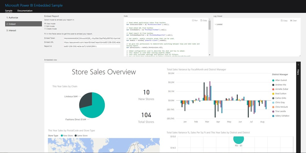 Get some hands-on experience with the Power BI – Report Embed Sample