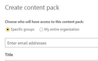 Publish to entire organization enabled