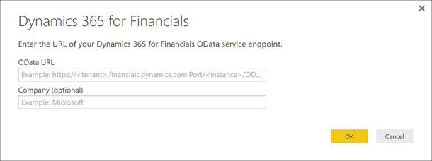 dynamics 365 for financials dialog