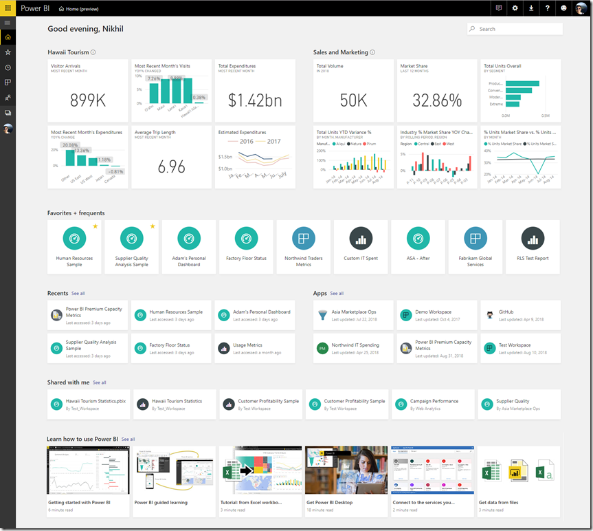 Power BI Home Two