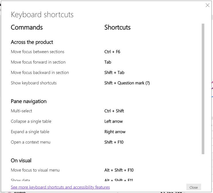 Image of the new and improved keyboard shortcuts dialog